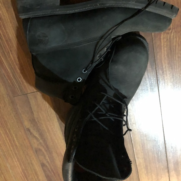 men's classic black timberlands